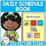 Daily Schedule Book 270 Picture Icons ~Digital Download~