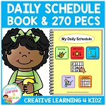 Daily Schedule Book w/270 PECS ~Digital Download~