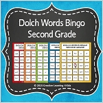 Dolch Words Bingo Second Grade ~Digital Download~