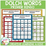 Dolch Words Bingo Primer ~Digital Download~