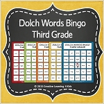 Dolch Words Bingo Third Grade ~Digital Download~