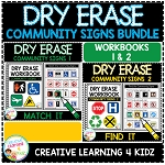 Dry Erase Community Signs Workbook Bundle ~Digital Download~