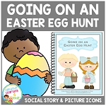 Social Story Going on an Easter Egg Hunt + 18 cards ~Digital Download~
