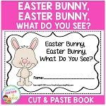 Easter Bunny, Easter Bunny, What Do You See? Cut & Paste Book ~Digital Download~