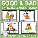 Behaviors Expected & Unexpected - Good & Bad Clip Cards ~Digital Download~
