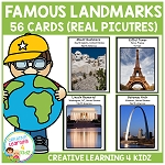 Famous Places Cards ~Digital Download~