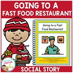Social Story Going to a Fast Food Restaurant ~Digital Download~