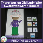 There Was an Old Lady Who Swallowed Some Books! Cut-outs ~Digital Download~