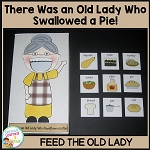 I Know an Old Lady Who Swallowed a Pie! Activity Cut-Out ~Digital Download~