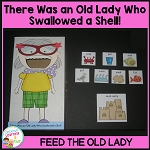 There Was an Old Lady Who Swallowed a Shell! Cut-Out  ~Digital Download~