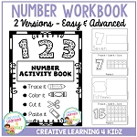 Fine Motor Skills Number Activity Book ~Digital Download~