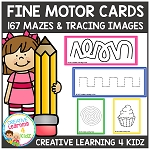 Fine Motor Cards Tracing & Mazes ~Digital Download~