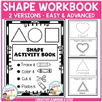 Fine Motor Skills Shape Activity Book ~Digital Download~