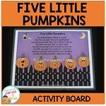 Five Little Pumpkins Activity Board ~Digital Download~