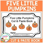 Five Little Pumpkins Cut & Paste Book Halloween ~Digital Download~