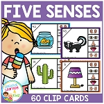 Five Sense Clip Cards ~Digital Download~