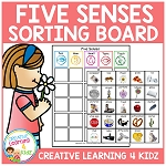 Five Senses Sorting Board ~Digital Download~
