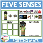 Five Senses Sorting Mat Bundle ~Digital Download~