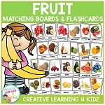 Fruit Matching Boards + Flashcards ~Digital Download~