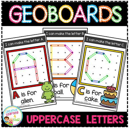 Geoboard Templates: Bundle 1 Alphabet - Numbers - Shapes ...