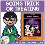 Social Story Trick or Treating  ~Digital Download~