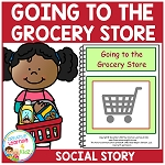 Social Story Going to the Grocery Store ~Digital Download~