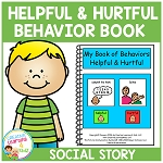 Social Story Helpful & Hurtful Behaviors Book ~Digital Download~