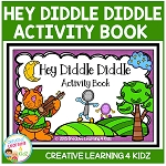 Nursery Rhyme Hey Diddle Diddle Activity Cut & Paste Book ~Digital Download~