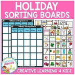 Holiday Sorting Boards ~Digital Download~