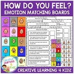 Emotions How Do You Feel? Boards & Flashcards ~Digital Download~