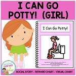 Social Story I Can Go Potty! Girl ~Digital Download~