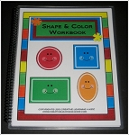 Shape & Color Workbook & Flashcards ~Digital Download~