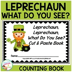 St. Patrick's Leprechaun, Leprechaun, What Do You See? Cut & Paste book ~Digital Download~