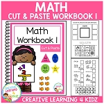 Cut & Paste MATH Workbook 1 ~Digital Download~