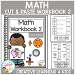 Cut & Paste Math Workbook 2 ~Digital Download~