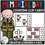 Memorial Day Counting Clip Cards ~Digital Download~