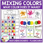 Color Mixing Boards & Flashcards ~Digital Download~