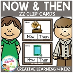 Now & Then / Past & Present Clip Cards Thanksgiving ~Digital Download~