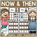 Now & Then / Past & Present Sorting Matching Flashcard Bundle ~Digital Download~