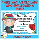 There Was an Old Lady Who Swallowed a Rose! Cut & Paste Book ~Digital Download~