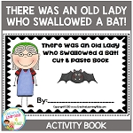 There Was an Old Lady Who Swallowed a Bat! Cut & Paste Book Halloween ~Digital Download~