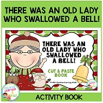 There Was an Old Lady Who Swallowed a Bell! Cut & Paste Book ~Digital Download~