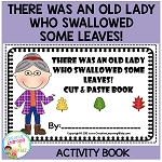 There Was an Old Lady Who Swallowed Some Leaves! Cut & Paste Book ~Digital Download~