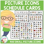 Picture Icons Schedule Cards ~Digital Download~