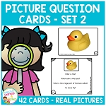 Picture Question Inference Cards Set 2 ~Digital Download~