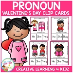 Pronoun Clip Cards: Valentine's Day ~Digital Download~