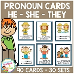 Pronoun Cards ~Digital Download~