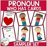 Pronoun Who Has Cards Freebie ~Digital Download~