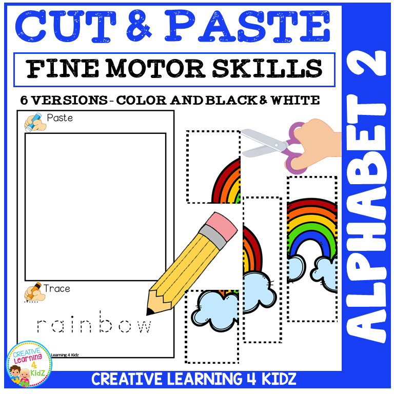 picture relating to Alphabet Puzzle Printable titled Reduce and Paste Fantastic Engine Expertise Puzzle Worksheets: Alphabet 2 ~Electronic Obtain~
