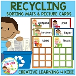 Earth Day Recycling Sorting Mats with 54 Real Pictures ~Digital Download~